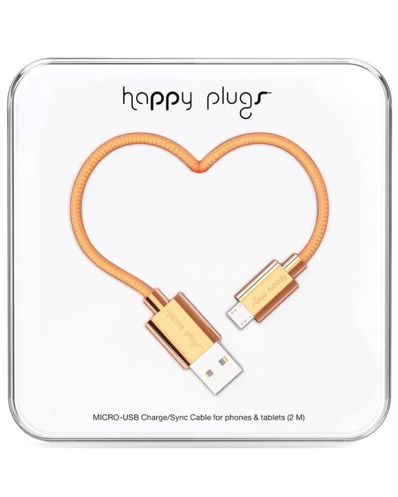 Happy plugs - Micro-USB - Roséguld