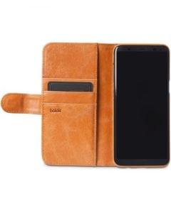 Plånboksväska, Läder/mocka, Samsung S7 Edge, Magnetisk, Brun - Holdit - Samsung S8