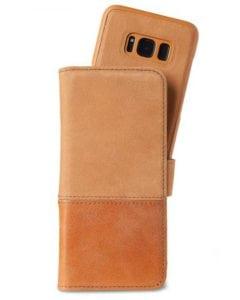 Plånboksväska, Läder/mocka, Samsung S7 Edge, Magnetisk, Brun - Holdit - Samsung S8/S8+