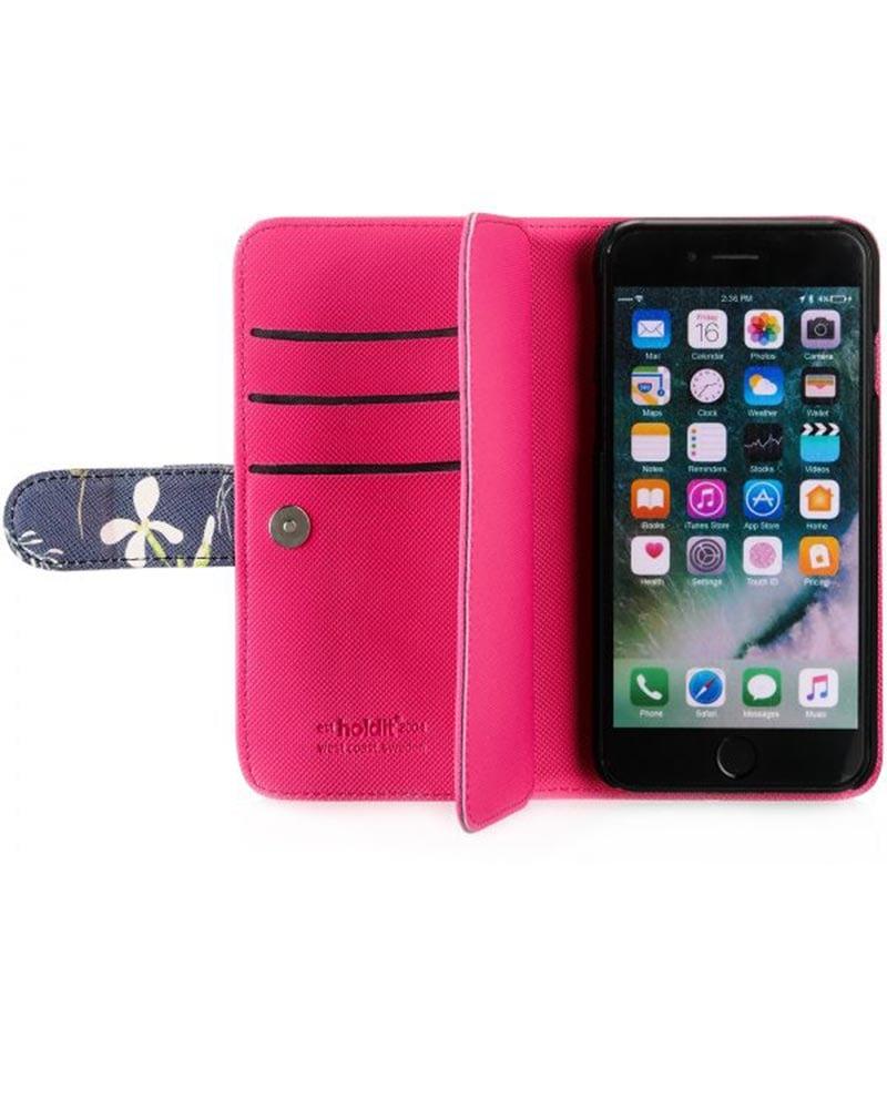 Plånboksväska med hela 6st kortfack - iPhone 6/7/8 - Holdit