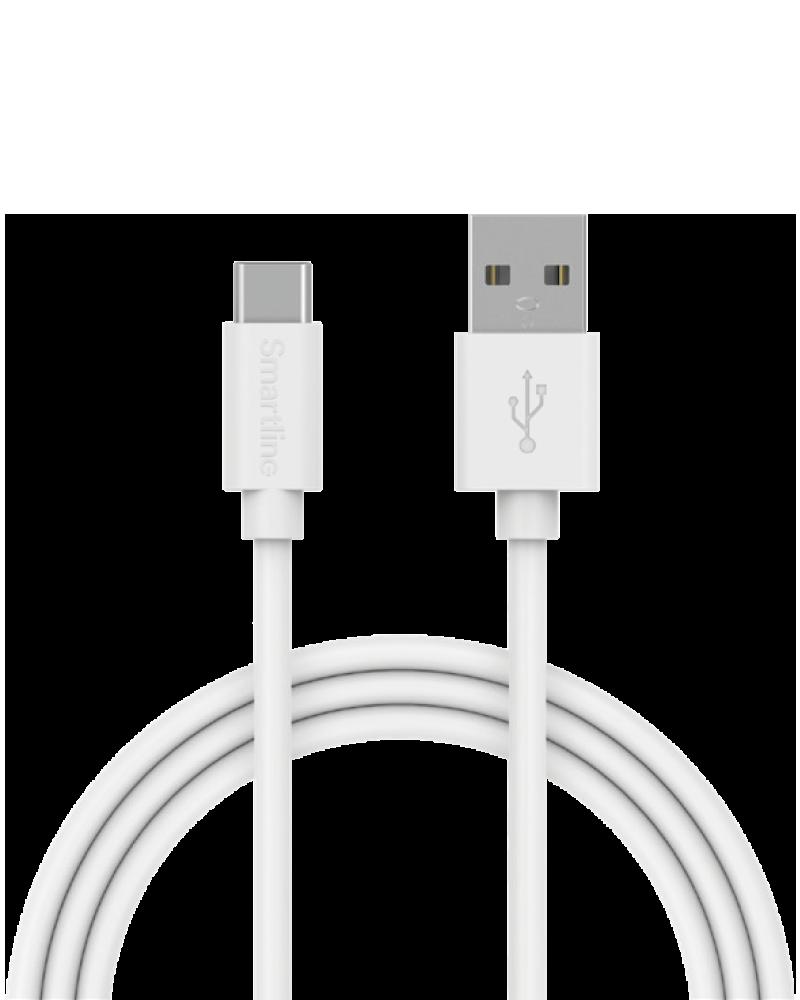 Smartline USB-C kabel 3m vit
